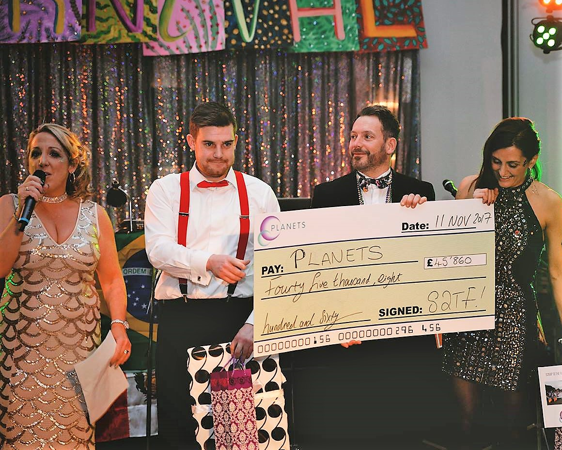 Awarded with a Charity Cheque for a whopping £45,860!