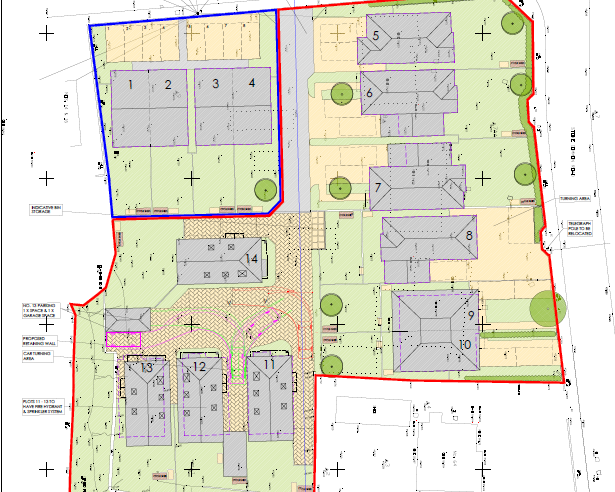 Overall Site Plan For Burrow Hill Development